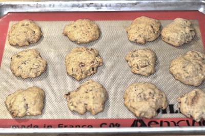 banana cookies baked