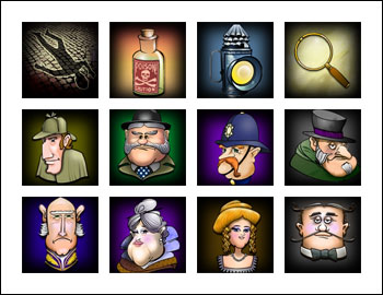 free Moonlight Mystery slot game symbols