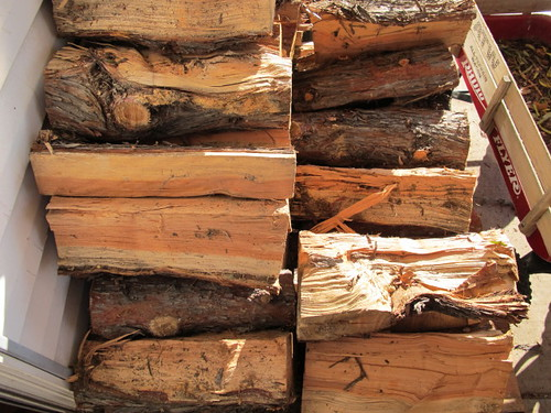 Logs for the wood stove
