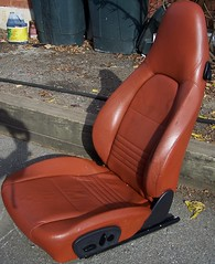 99PorscheCoupe11 (truckandcarseats) Tags: red leather 1999 porsche boxster coupe fronts
