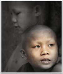 '2monks' (cisco image ) Tags: portrait bravo monk laos ritratto luangprabang photographia flickrcubismaward artofimages photographia bestportraitsaoi authorsclub