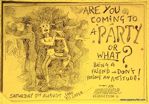 Aphrodisiac flyer 1st August '92