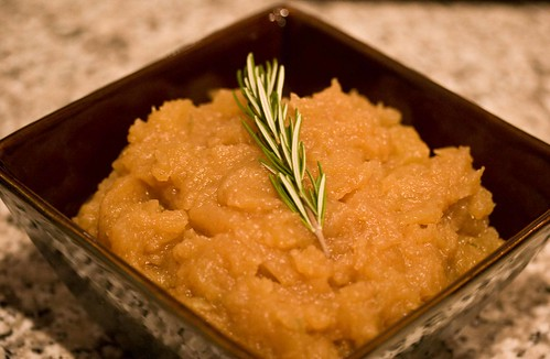 rosemary and brown butter applesauce