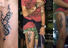 Dayak Kayan Dog tattoo motive Made by using