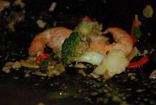 broccoli met garnalen