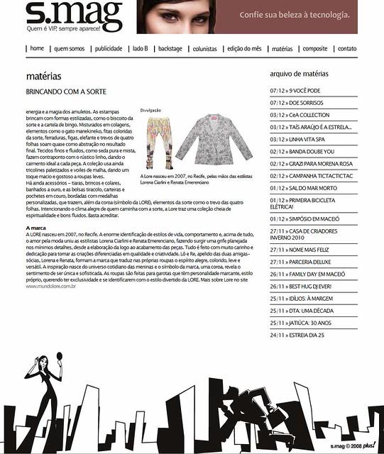 SALADA ONLINE - BRINCANDO COM A SORTE 2 - 071209 by LORE 2009