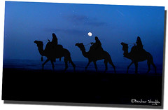 The Three Wise Men ! (Bashar Shglila) Tags: christmas new blue moon 3 men history silhouette night photoshop stars cards happy born star three persian los worship post postcard year jesus free christian east gifts camel kings card wise caravan inspirational bethlehem camels greeting zeitgeist marry christians biblical reyes caspar 2010 judea magos magi the magus melchior balthasar thethreekings thethreewisemen