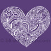 Hand-Drawn Psychedelic Paisley Henna Tattoo Heart Doodle by blue67
