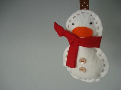 little felt snowman