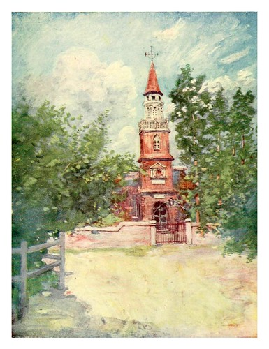 032-La catedral en el pueblo español de Jamaica-The West Indies 1905- Ilustrations Archibald Stevenson Forrest