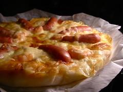 ピザ焼いた