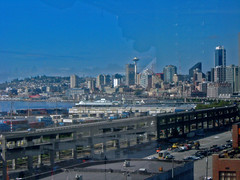 through the looking glass (trapper keeper) Tags: seattle canon mariners safeco