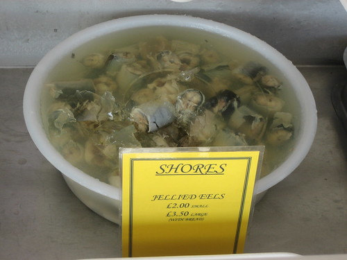 Jellied Eels at Shores Seafood Bar