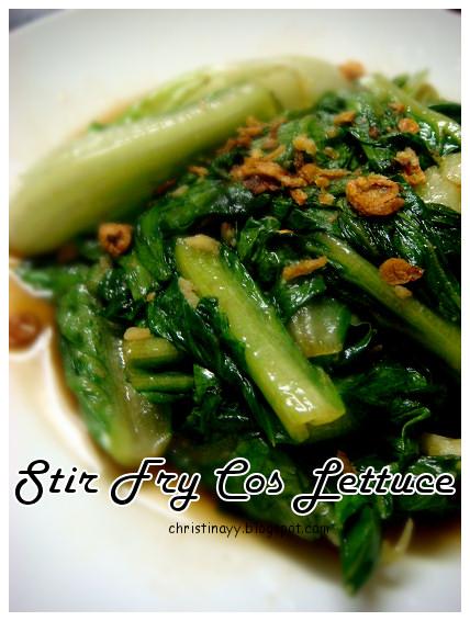 Stir Fried Cos Lettuce