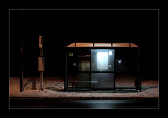 BusStop (SamCooperPhotography) Tags: winter snow night dark nikond50 2009 sigma50mm