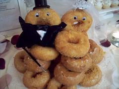 Bride and groom donuts (legogrrl4) Tags: wedding cookies marie shower groom bride cupcakes shoes dress honor bridesmaids presents donuts sweets cornbread maid calendars