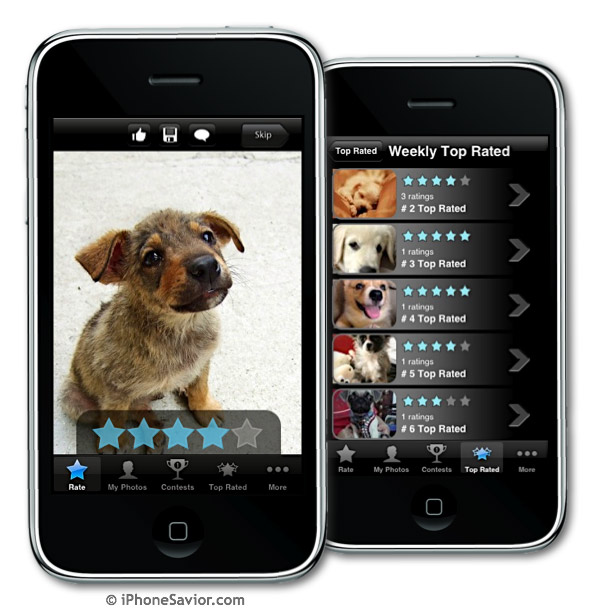 Rate My Puppy iPhone App