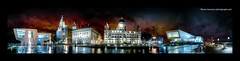 A Panorama - The New Pier Head At Night - January 2010 (Lee Carus) Tags: panorama liverpool pier head pano sony alpha hdr 2010 a900