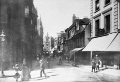 Norwich, London Street, 1891 (mira66) Tags: blackwhite norfolk norwich oldphoto eastanglia londonstreet 1891