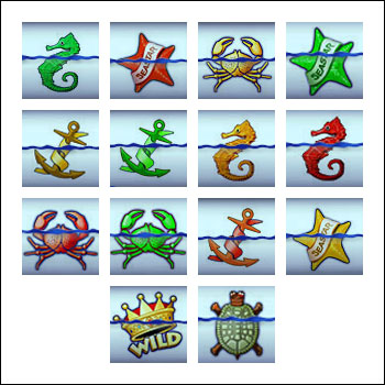 free Ocean Princess slot game symbols