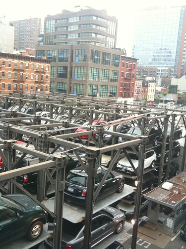 The car forest next to the High Line