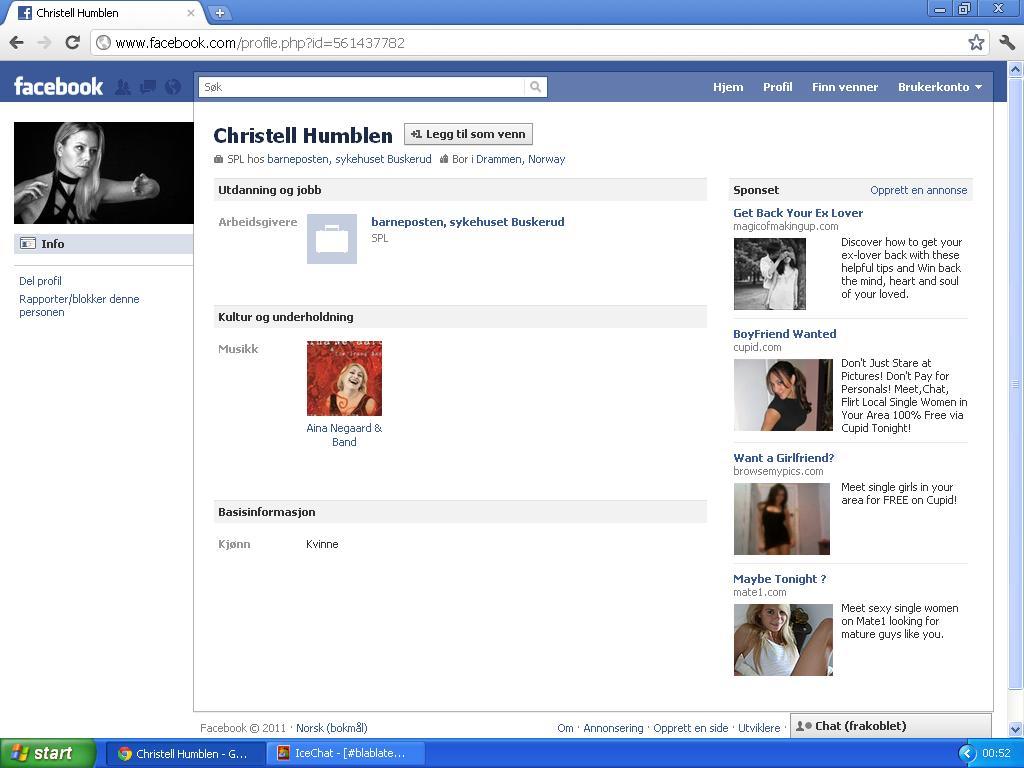 christell ikke skrevet på facebook om russland