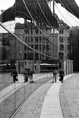 Distorted Way (gman_garry) Tags: bw germany bavaria 7d streetscenes nuernberg 28mmf18 2011