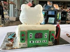 Bake a Cake for Darwin 2017 (Beaty Biodiversity Museum) Tags: beaty biodiversity museum cake darwin birthday contest ubc vancouver british columbia decorating fondant icing dessert off hello kitty sds page gel electrophoresis phylogenetics