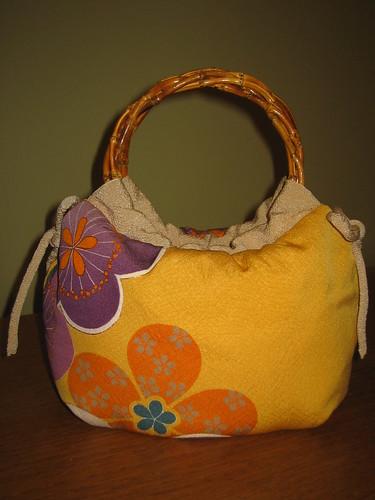 Mustard Yellow Kimono Remake Bag