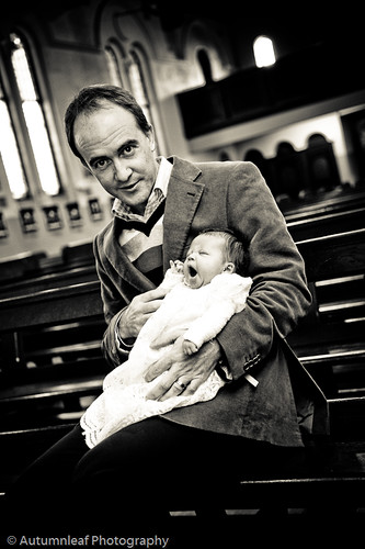 Cate Infant Baptism - Father and daughter