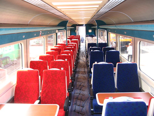 Intercity charter train - refurbished 2009 and 2013 - Standard (2nd) class interior