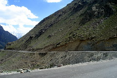 On road to Keylong (keedap) Tags: road trip india snow car bike deepak delhi deep leh manali gauri ladakh pang rohtang naveen keylong baralacha sarchu upshi tanglangla surinder nakeela lachungla
