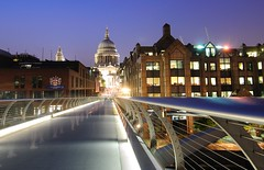 Millenium Bridge to St Paul's Cathedral (Luis Fernando Useche) Tags: lighting blue light panorama london art scale colors beautiful lines yellow architecture composition reflections painting photography lights blog amazing intense nikon exposure flickr shoot artist mood photographer shot angle bright image unique background details perspective smooth picture deep atmosphere textures edge processing stunning pro luis framing portfolio lovely tradition capture emotions tones depth hdr masterpiece facebook treatment d90 useche luisuseche luseche luisfernandouseche fernandouseche