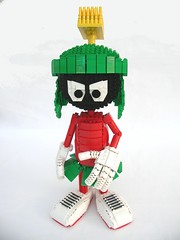 Marvin the Martian 1 (Mrs Monster) Tags: mars lego cartoon daffyduck marvin martian bugsbunny marvinthemartian