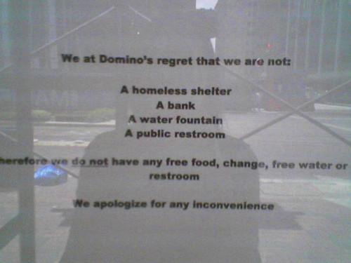 Dominoes Pizza v. Houston Homeless