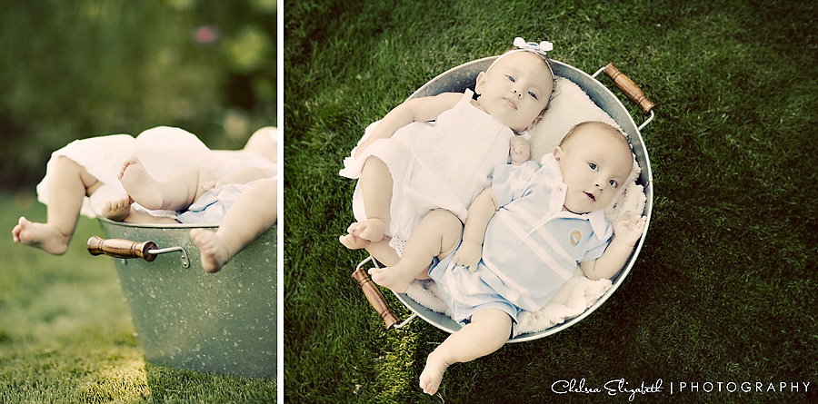 baby twins vintage portrait photograph portland oregon