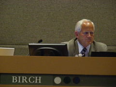 Chris Birch at the July 7 Assembly meeting - voted no on AO 64