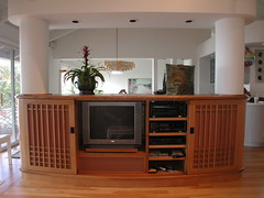 Wikoff Oak Entertainment Center