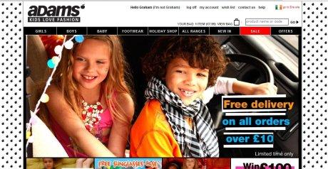 Adams homepage