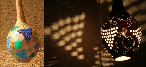 Natural Gourd Lamp Artistic Handicraft, Ceiling Lamp, Handicraft, natural Handicraft