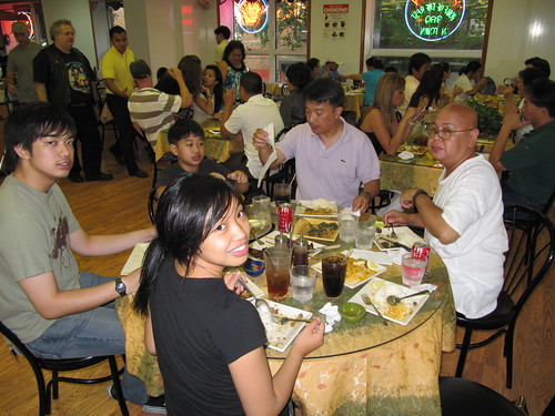 a Filipino meal in NYC