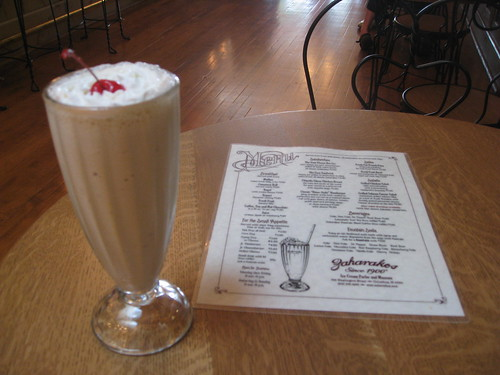 Zaharakos - Columbus, Indiana - Cinnamon Ice Cream Soda