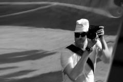 distortomatic5000+ (damonabnormal) Tags: street city urban blackandwhite bw selfportrait reflection philadelphia mirror nikon streetphotography august pa chrome sp 09 phl 2009 funhousemirror meandmycamera d80 distortoin