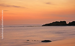 Sound fo The Sea (ツMaaar) Tags: sunset bali stone canggu wakakakaka sesehbeach akusukasesehbeach
