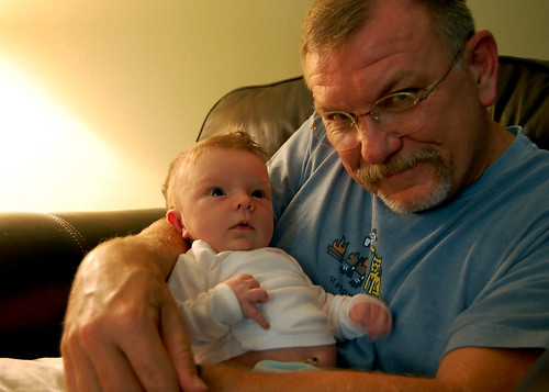 Grandpa Gibbs and granddaughter.