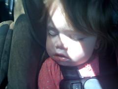 Sleeping in the Car (mongewse) Tags: girls sleeping baby cute girl babies sleep asleep