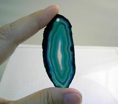 H27twoandhalf (abeadplacenet) Tags: agate hole teal slice geode pendant abeadplacenet