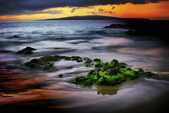 Maui, Hawaii, After Sunset, Kama'ole State Beach #3 (Don Briggs) Tags: ocean longexposure hawaii maui mauihawaii canoneosxt donbriggs