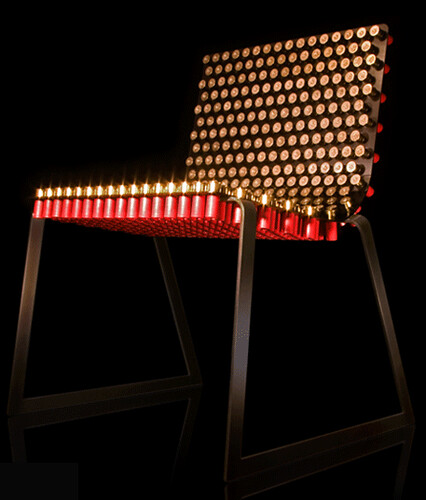 Fully Loaded Chair Made From Shotgun Shells By Alexander Reh