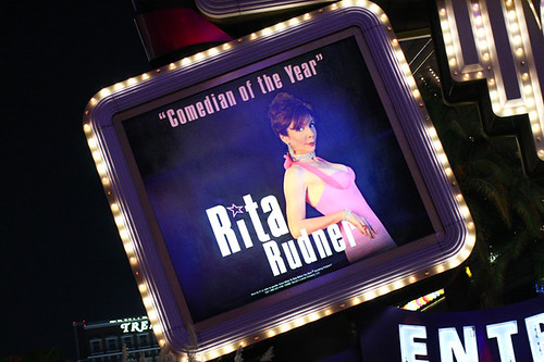 This is Ritas sign in front of Harrahs. Not actual size.